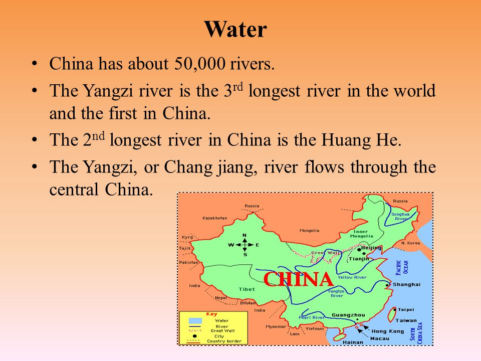 The Story Of China By Sarah Choi C Lands China Is The Rd - 50 longest rivers in the world