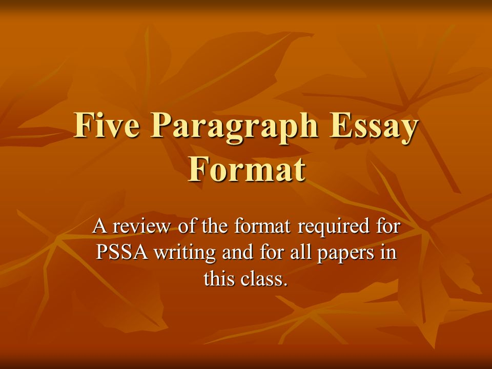 five paragragh essay The introductory paragraph should also include the thesis statement, a kind of mini-outline for the essay this is where the writer grabs the reader's attention it tells the reader what the paper is about the last sentence of this paragraph must also include a transitional hook which moves the reader to the first paragraph of the body of.