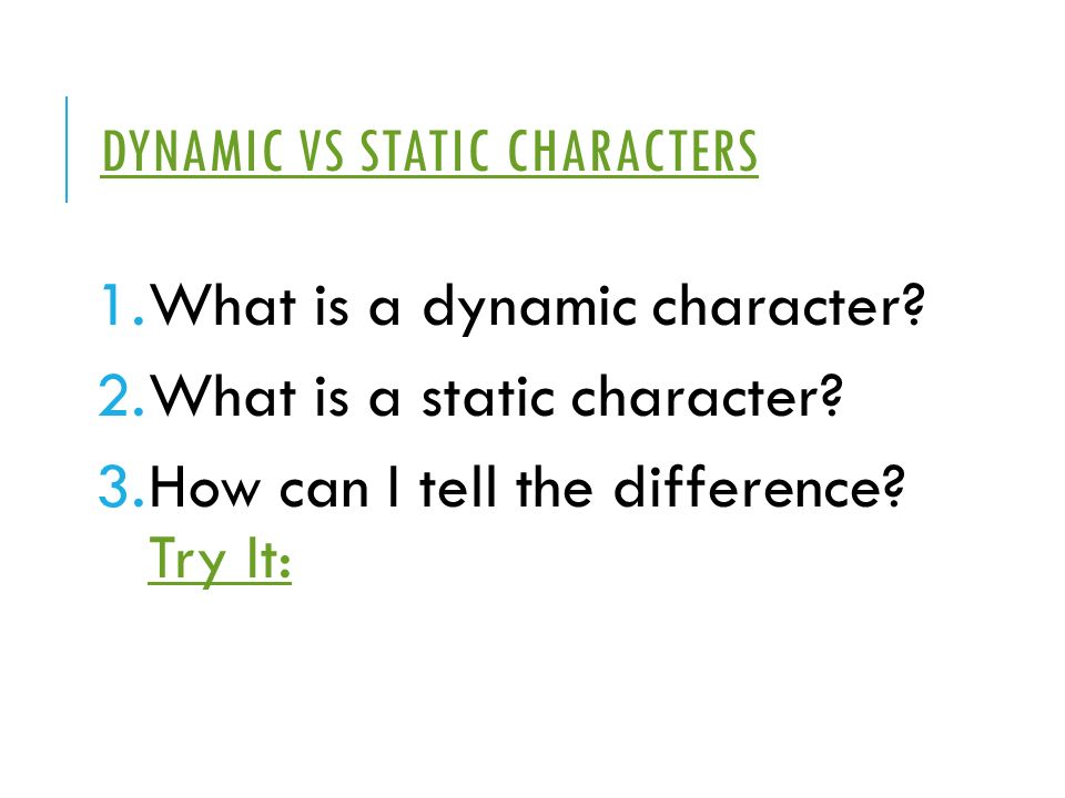 what is a static character - Etame.mibawa.co