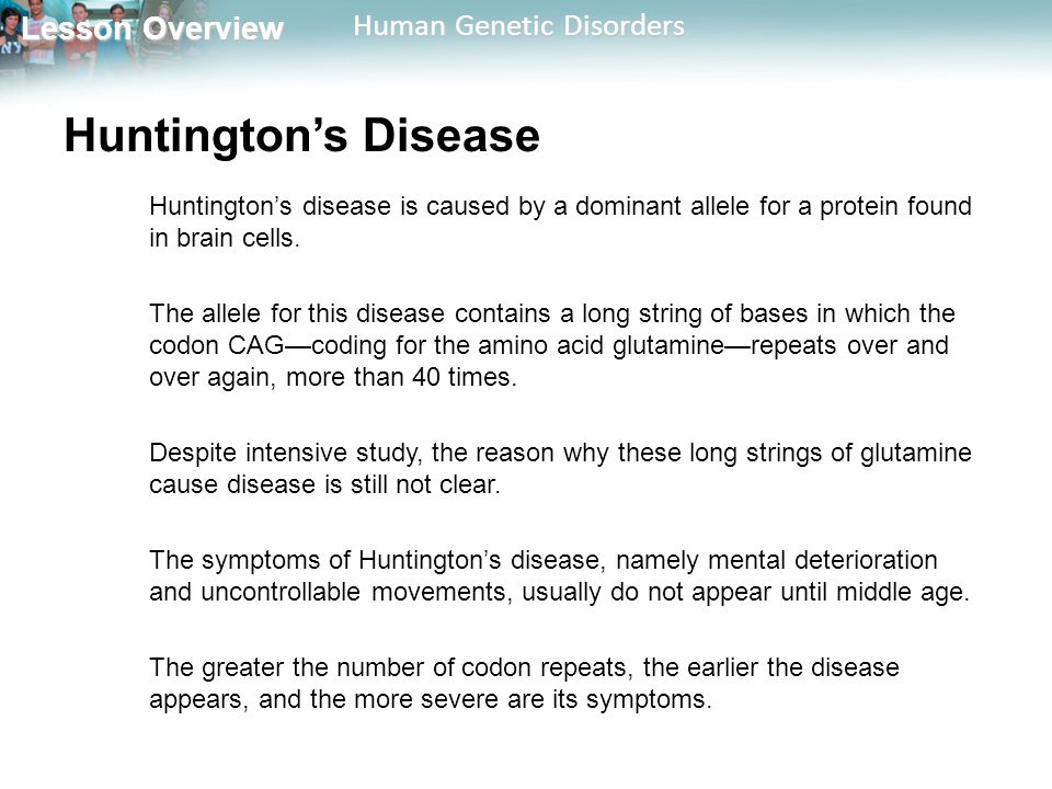 an overview of the huntingtons disease