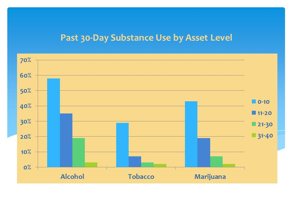 Past 30-Day Substance Use by Asset Level