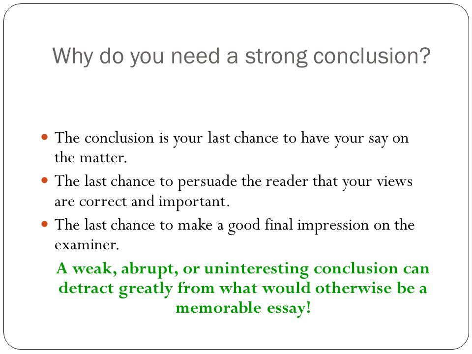 write effective conclusion persuasive essay