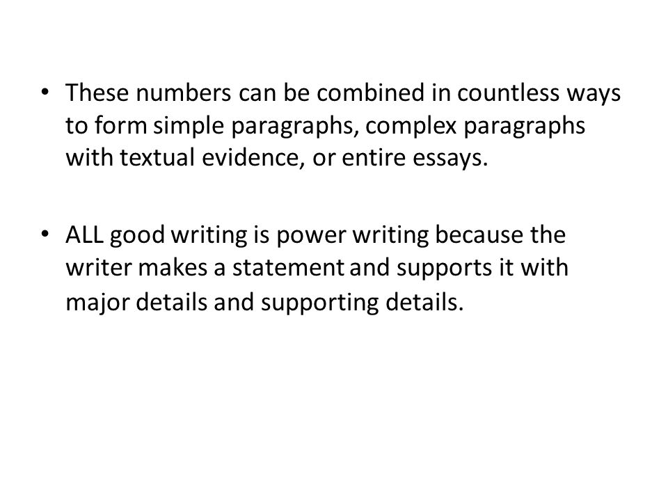 number usage in essays Using numbers when using numbers in essays and reports, it is important to decide whether to write the number out the context might determine the precise usage.
