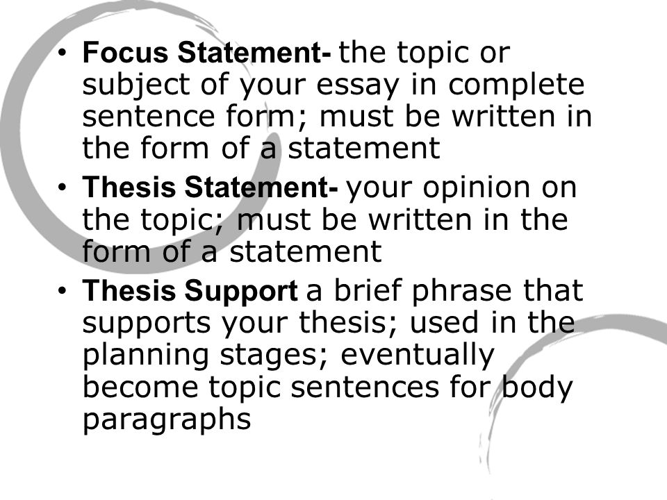 is the thesis statement the first sentence in the introduction