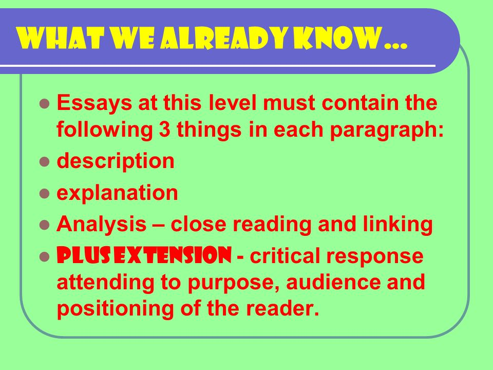 the analytical response essay a strategy for success ppt  4 what