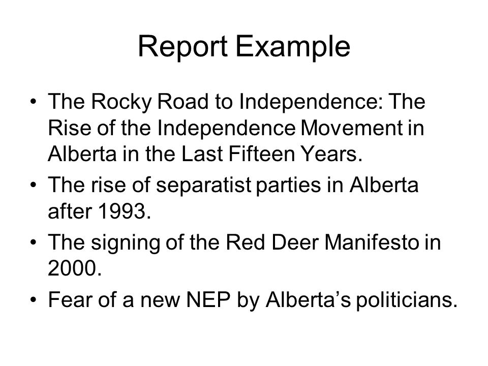 the road to independence essay