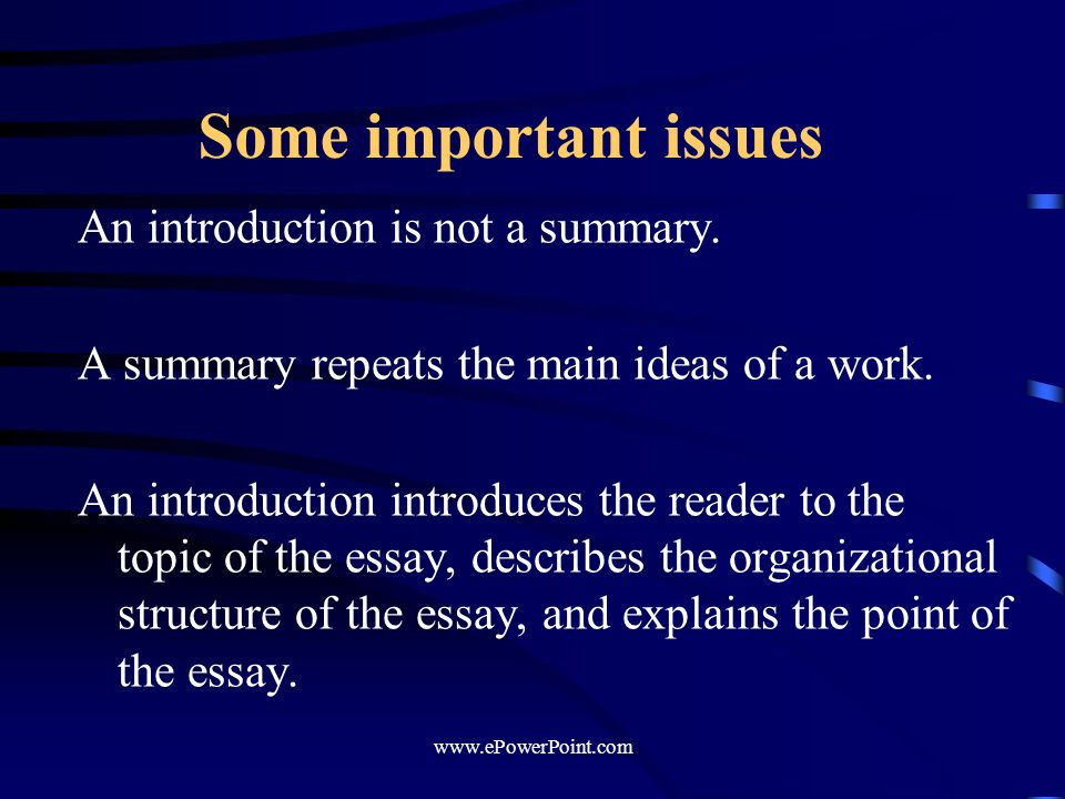 an introduction to the essay on the topic of homecoming night Biology essay writing help an essay is an article which is very broad and can accommodate various topics the writing format of an essay paper can be divided into three segments – introduction, body and conclusion.