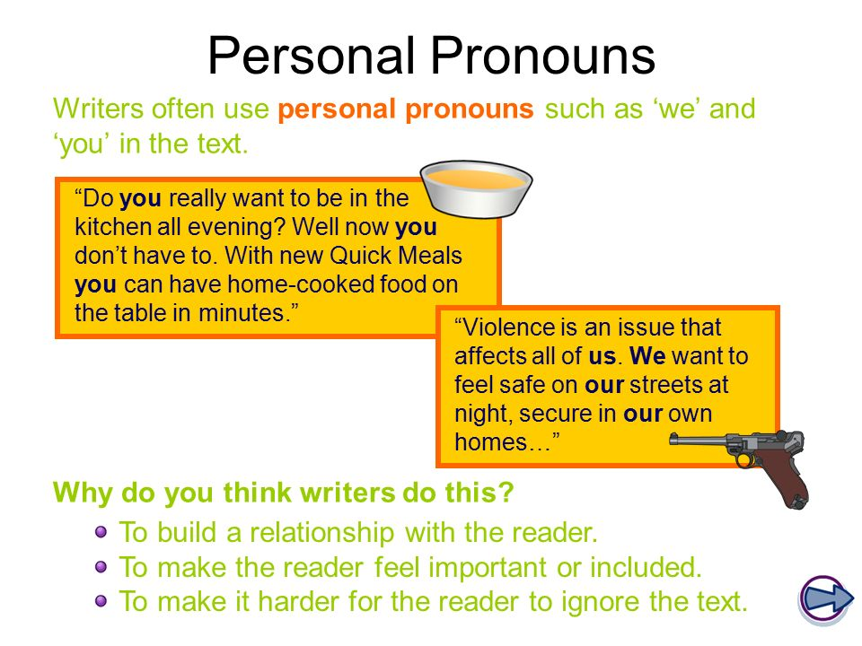 Are pronouns allowed in persuasive essays