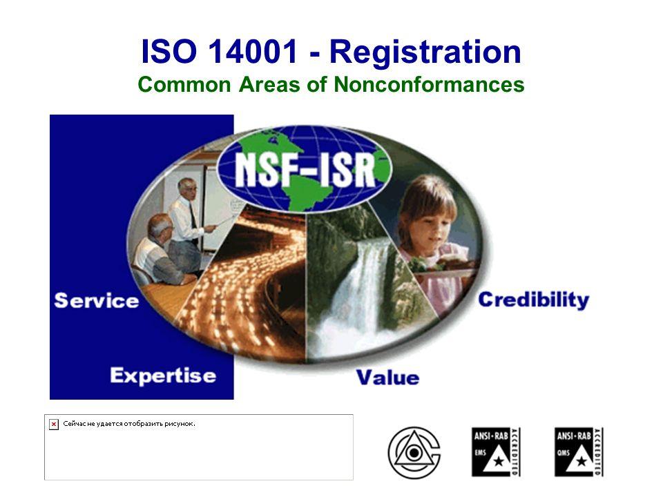 ISO 14001 - Registration Common Areas of Nonconformances
