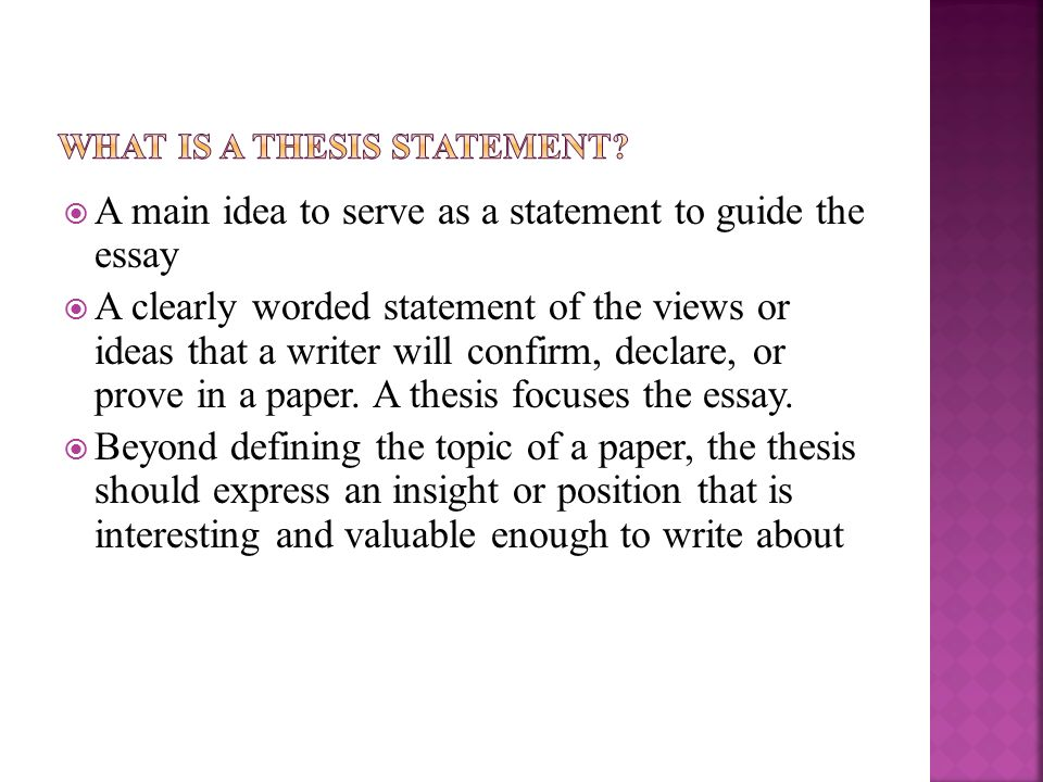 opening sentence of a senior thesis First paragraph: what is your topic in a couple sentences each choosing senior thesis topics.
