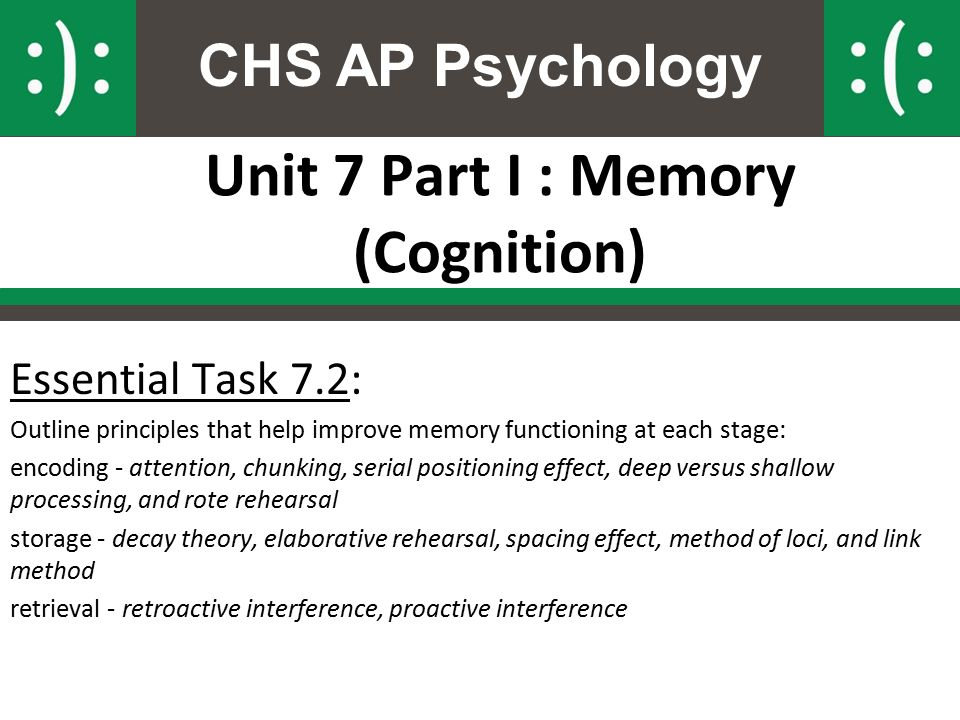unit 4 cognition memory and