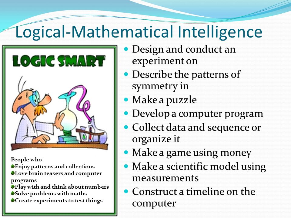 Logical mathematical intelligence careers