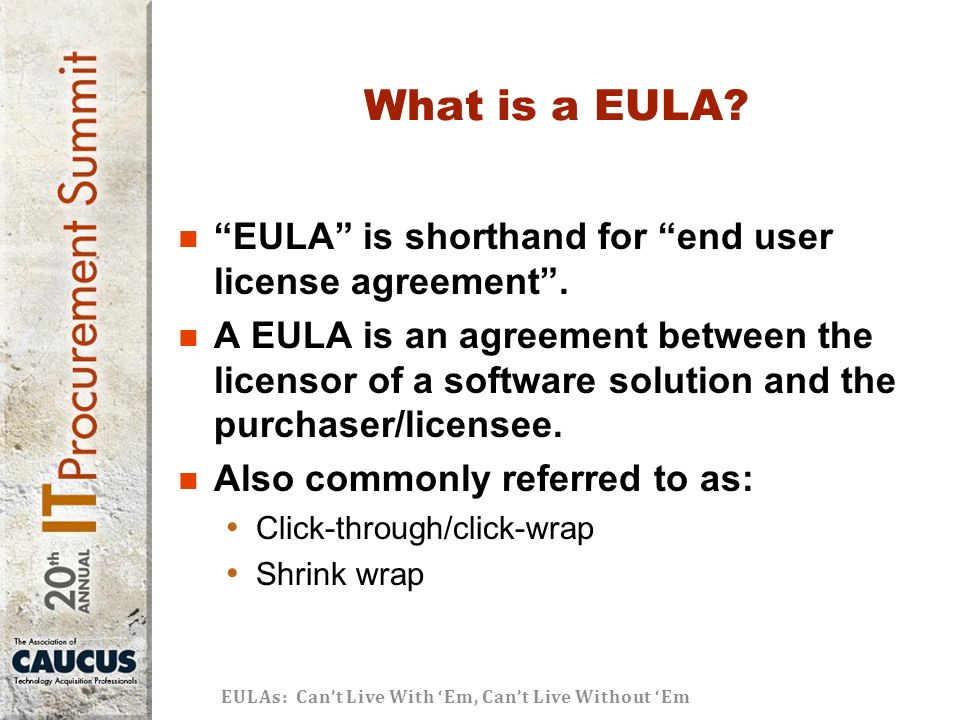 What Is An End User Agreement Images Agreement Letter Format