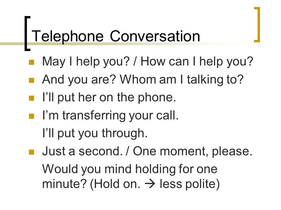 telephone conversation