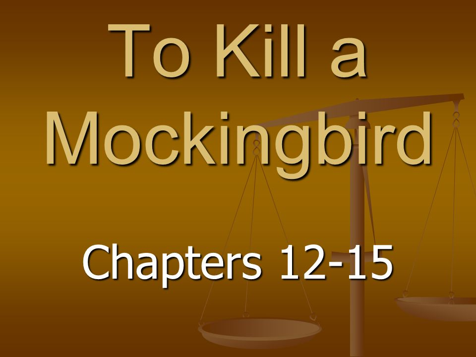to kill a mockingbird and chapter