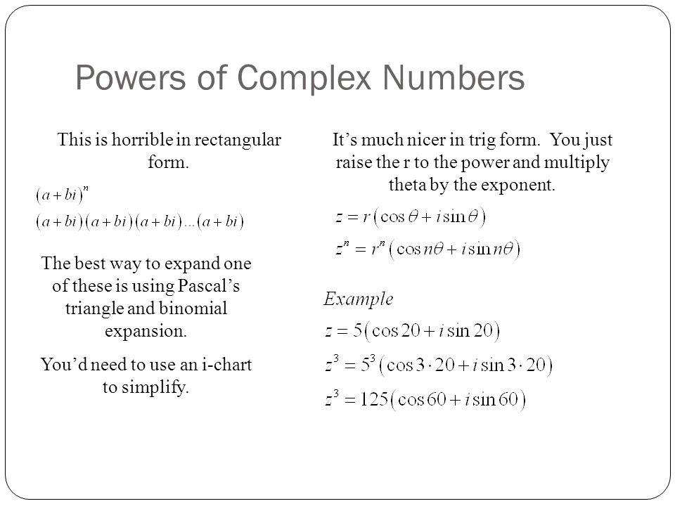Lesson 78 – Polar Form of Complex Numbers HL2 Math - Santowski 11 ...