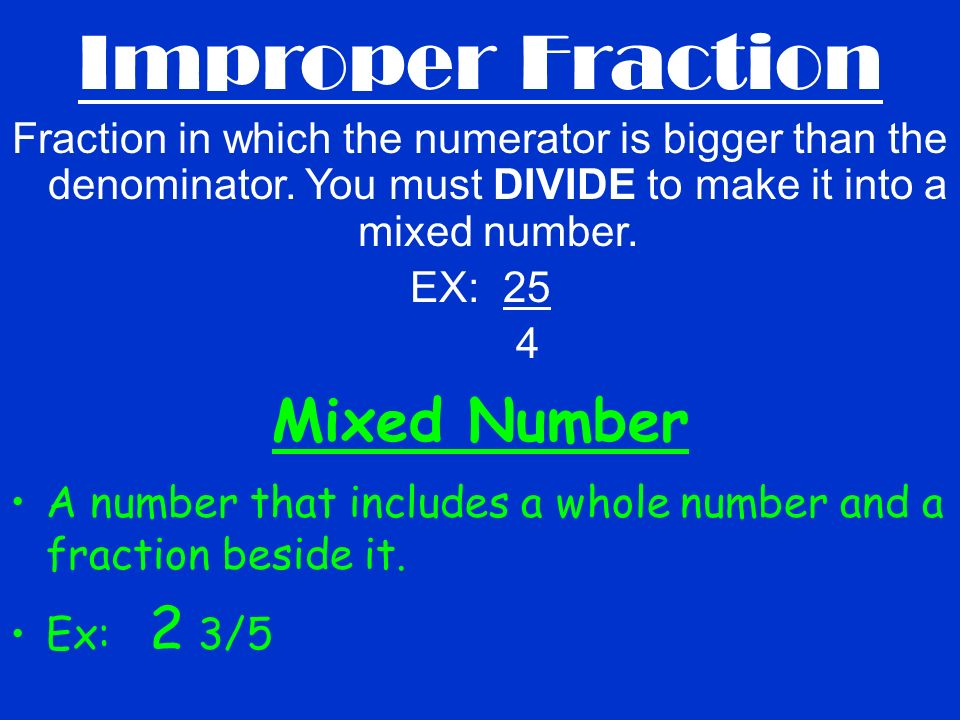 Fraction Notes Fraction Vocabulary Fraction - a number that stands ...