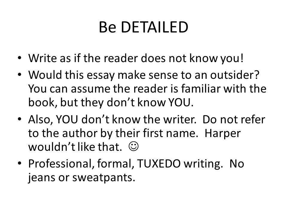 Does this essay make sense?