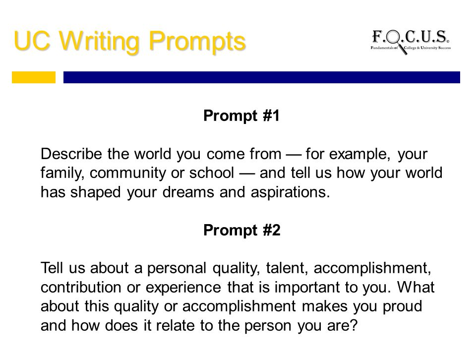 UC Personal Statement Prompt   Answer