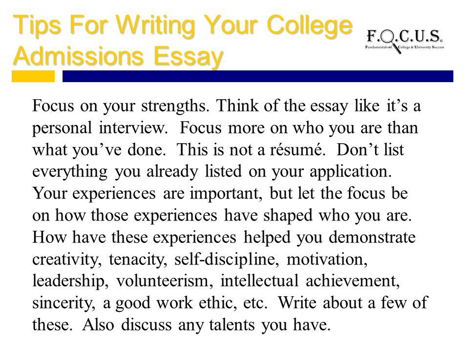 how important is the essay for college application