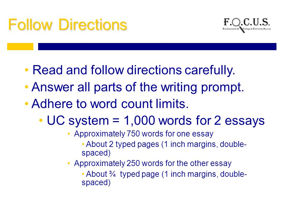 writing your college admissions essay what is a college  9 follow directions