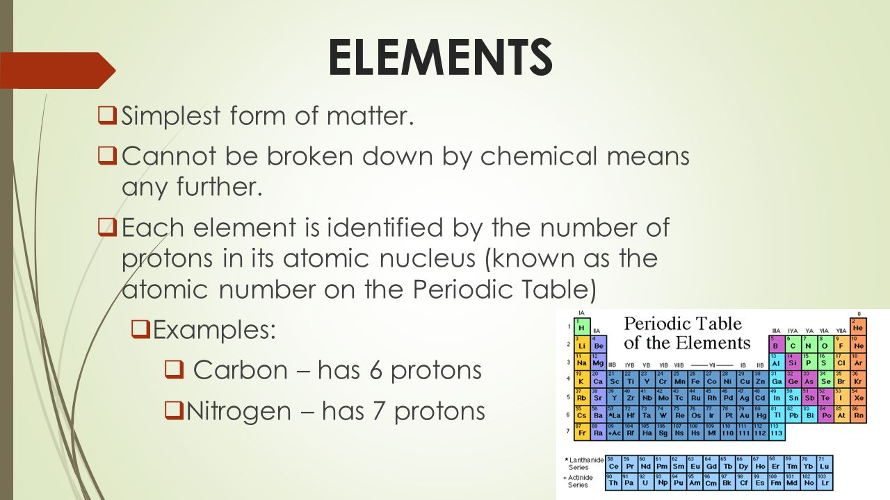 STATION 1. ELEMENTS  Simplest form of matter.  Cannot be ...