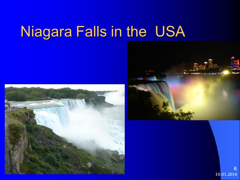 10.01.2016 6 Niagara Falls in the USA