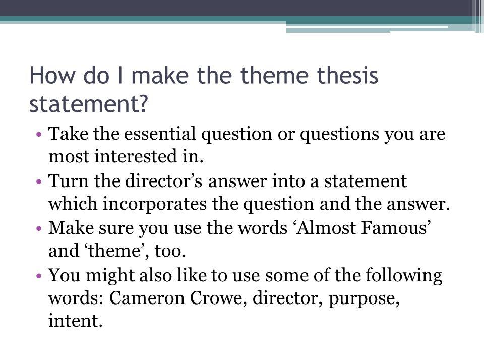 theme thesis statement