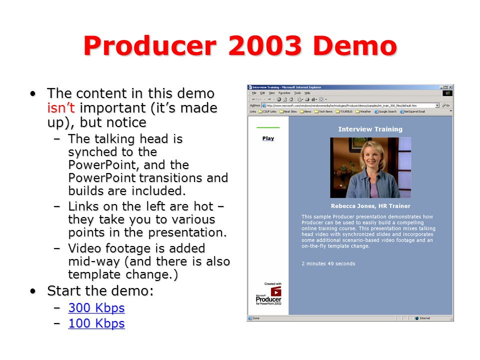 Important information this presentation was created by patrick what is producer 2003 producer 2003 is a free add in for powerpoint 2002 toneelgroepblik Choice Image
