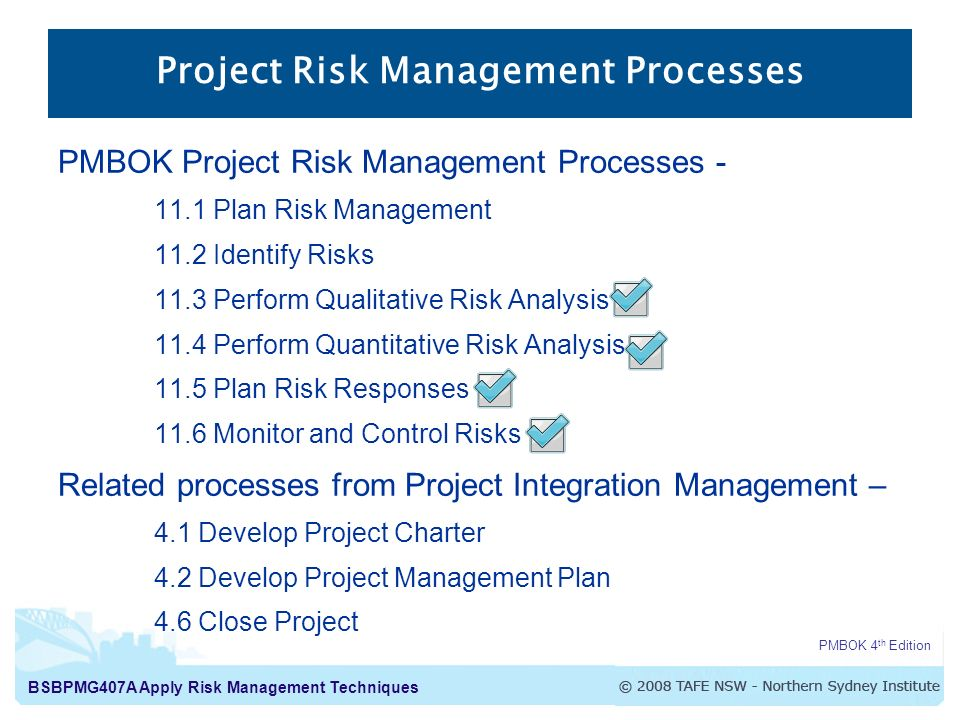 BsbpmgA Apply Risk Management Techniques Apply Risk Management