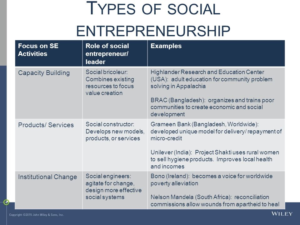Social Entrepreneurship Examples In South Africa Online Colleges All