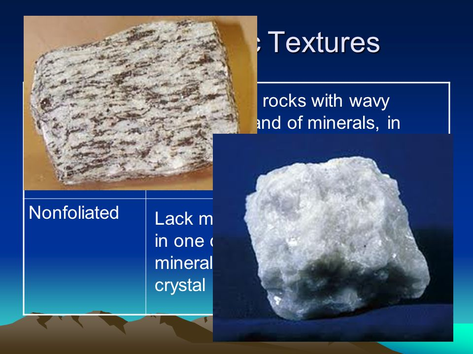 Metamorphic Rocks SWBAT compare and contrast the different types ...