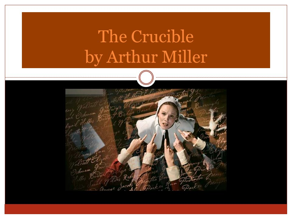 the crucible arthur miller s view on The crucible – the title arthur miller cleverly picked the title the crucible for his play about the salem witch hunts of the 1660's because of the word's many meanings throughout the play, miller has characters face severe tests that make them question their.