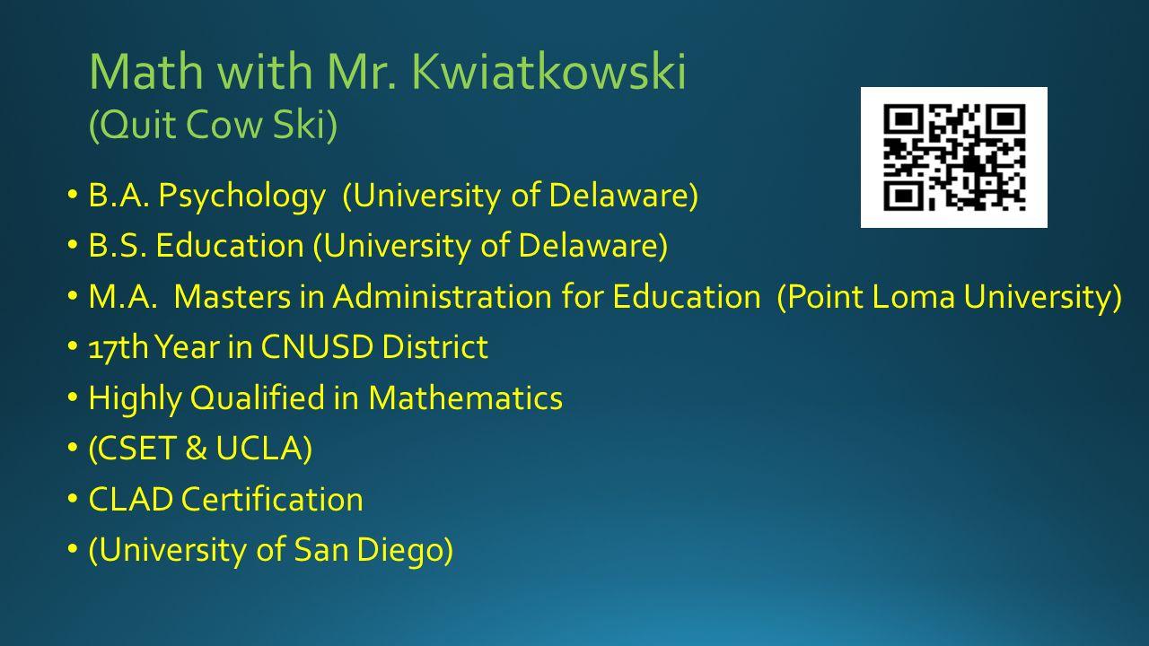 Math with mr kwiatkowski quit cow ski ba psychology 2 math xflitez Image collections