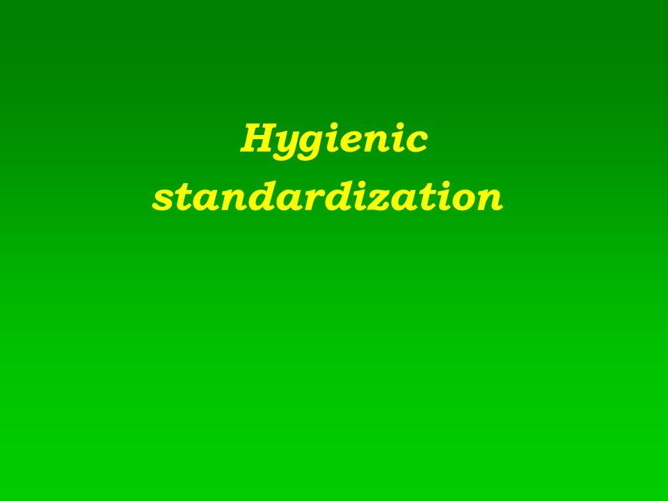 Hygienic standardization