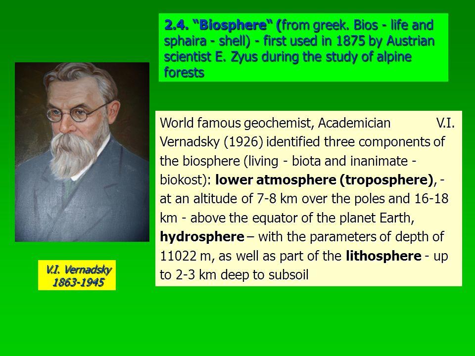 2.4. Biosphere (from greek.