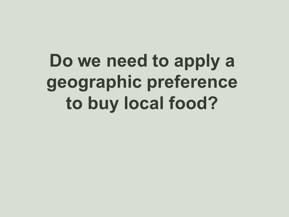 geographic preference