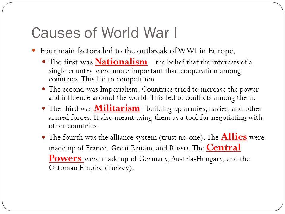 four main causes of world war  essay topics   homework for you  four main causes of world war  essay topics   image