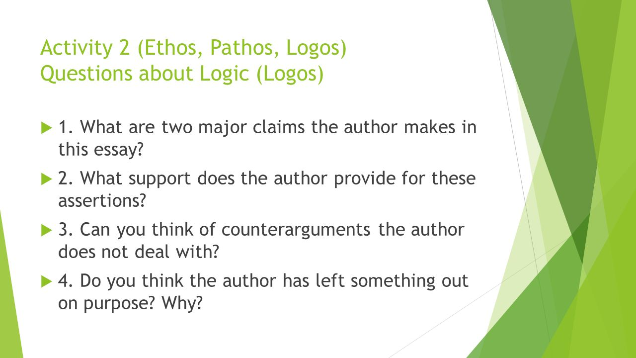 logos essay Free logos papers, essays, and research papers use of ethos, pathos, and logos in rhetoric - in the time of ancient greece, there were a category of teachers called the sophists who believed that wisdom and rhetoric could and should be used for profit and personal gain.