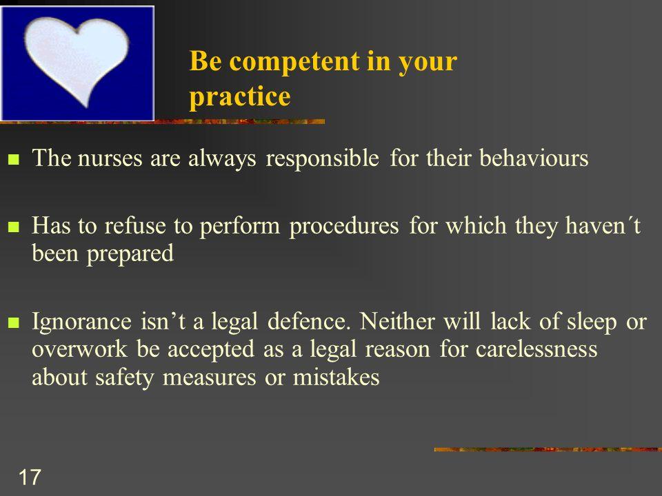 competences between nursing practice Differences in competencies between bsn and adn prepared nurses a discussion of differences in competencies between bsn in nursing, and the practice between.