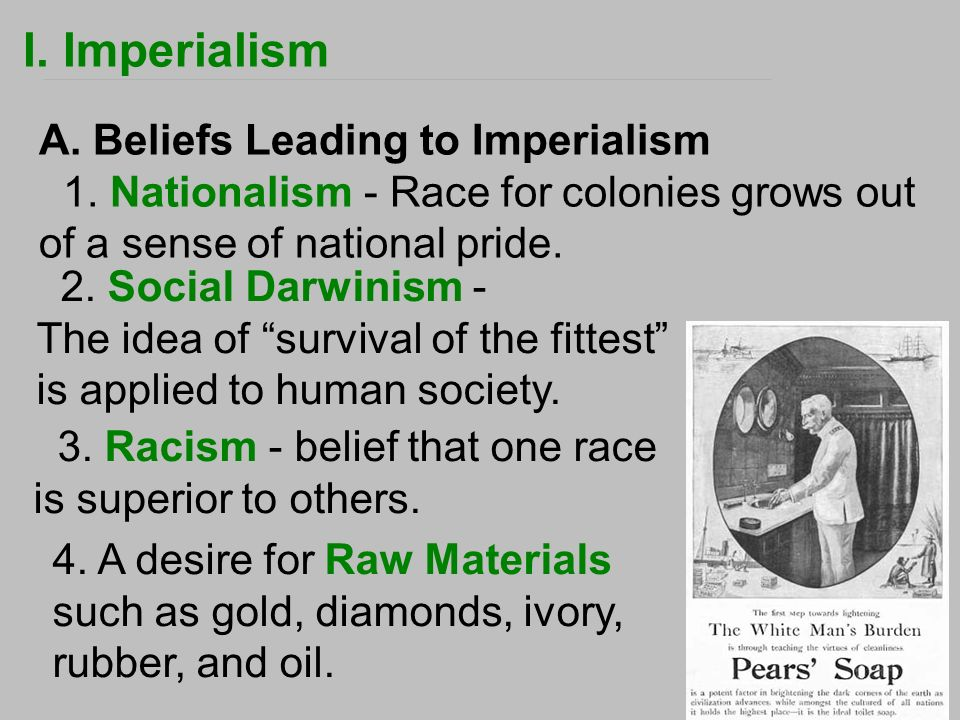 western imperialism and racism essay Get an answer for 'how was the industrial revolution linked to imperialism western powers, imperialism was racism relate to the policy of imperialism.
