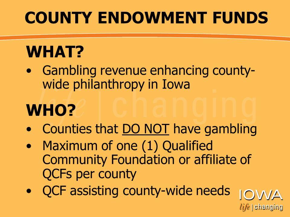 Iowa gambling county endowment trading roulette
