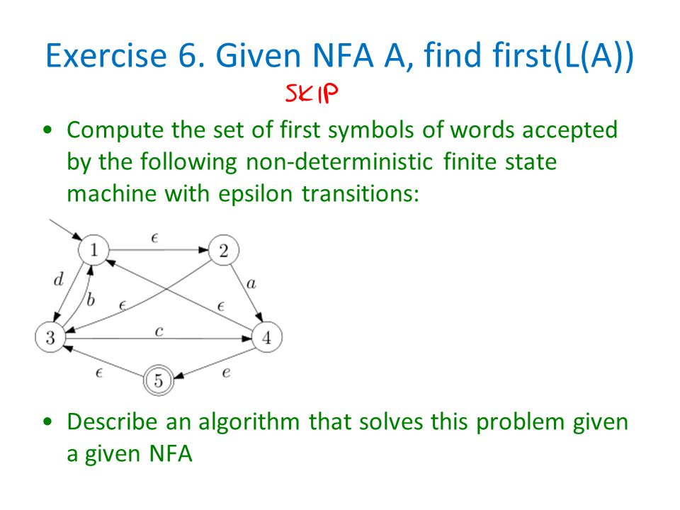 nfa with epsilon moves I needed a c++ implementation of nfa to dfa conversion for my m will have the same value as that for the underlying nfa, except that 0 (epsilon moves.