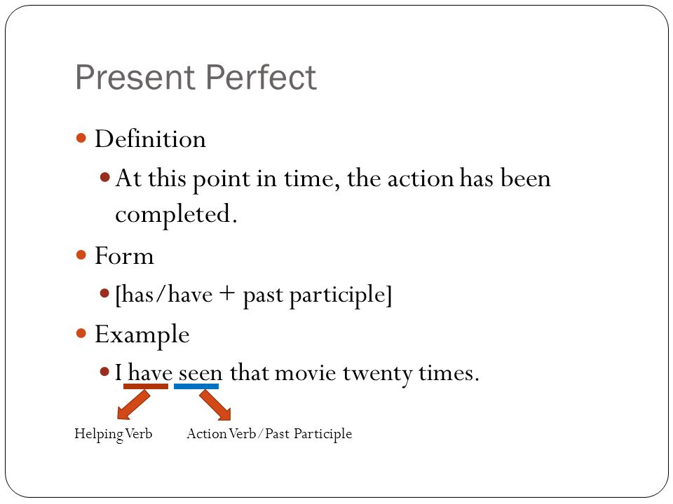 verb action time