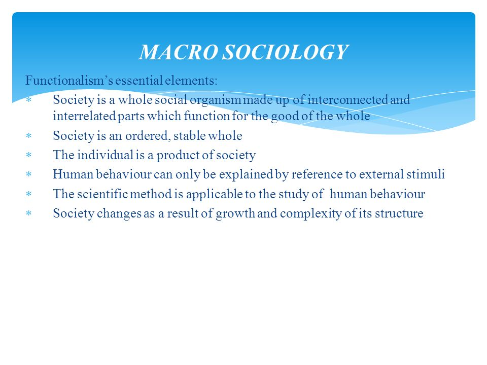 the functionalist view on how religion benefits both society as a whole and its individual members Open document below is an essay on assess the functionalist view that religion benefits both society as a whole and its individual members from anti essays, your source for research papers, essays, and term paper examples.