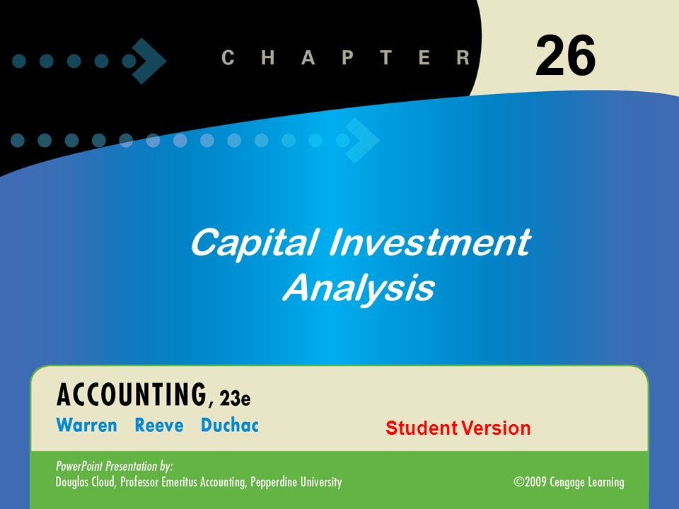 1 Introduction To Accounting And Business 26 Capital Investment