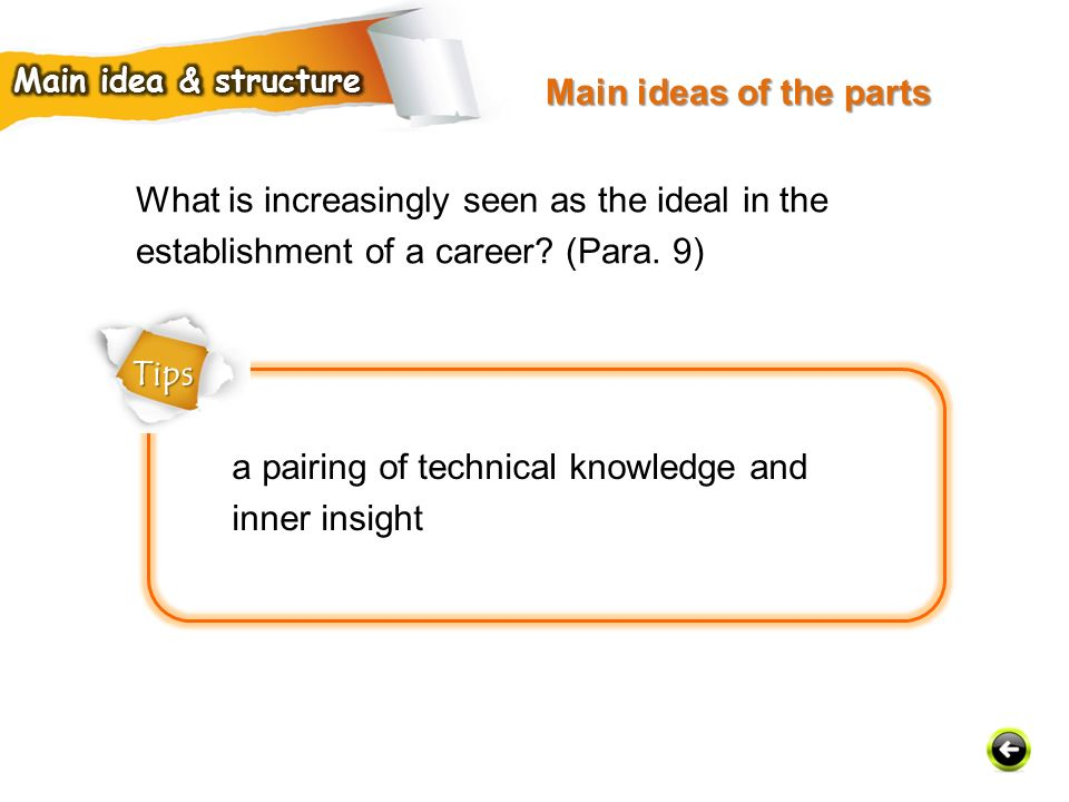 What is increasingly seen as the ideal in the establishment of a career.