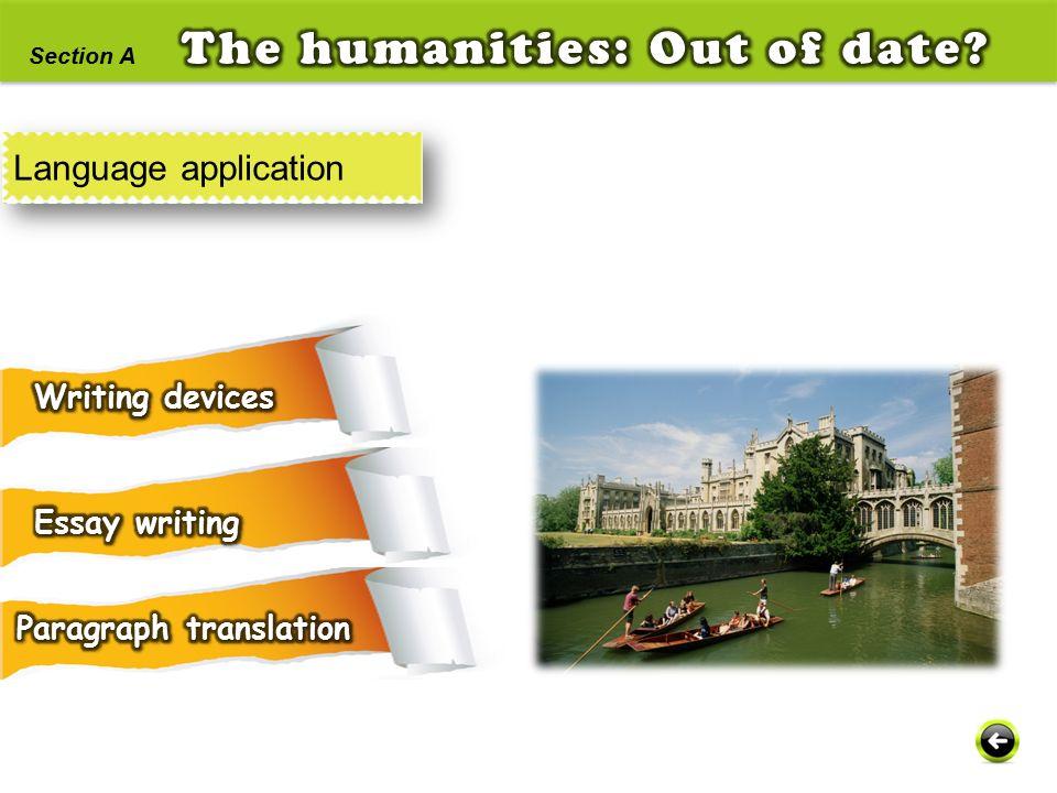 Language application Section A