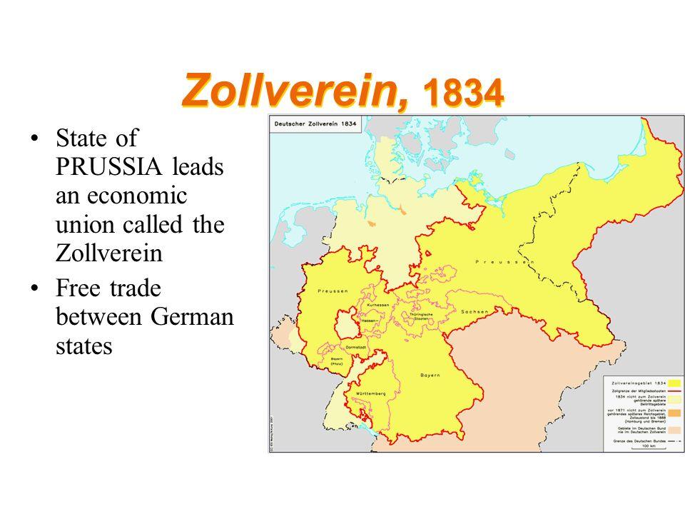 German Unification Napoleon Sparks German Nationalism Napoleon - Zollverein germany map