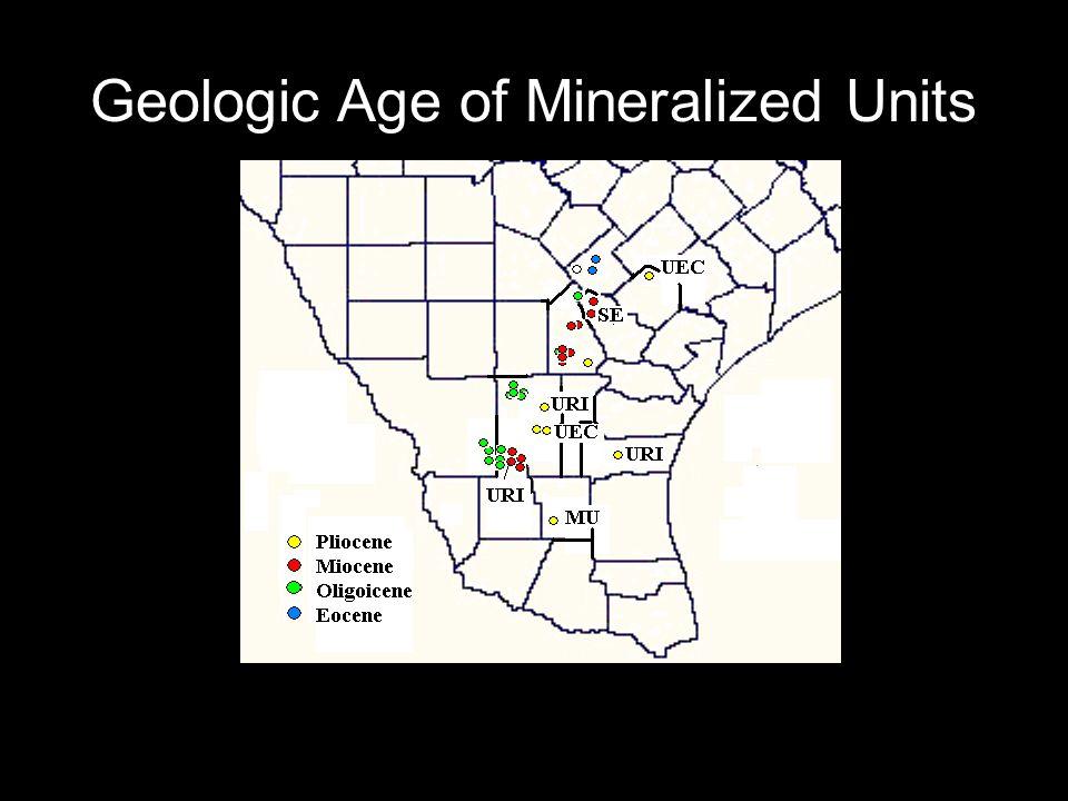 Geologic Age of Mineralized Units